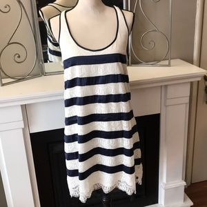 Tommy Girl Stunning Navy and Lace Dress